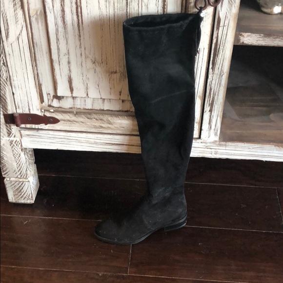 1af99cf2db4 Sam Edelman Black Suede Over the Knee Flat Boots. M 5b42515ffe5151a7d035823d